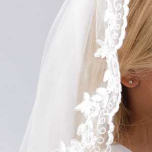 Floral Lace Communion Veil