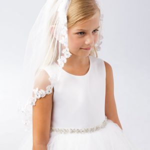 Floral Lace First Communion Veil
