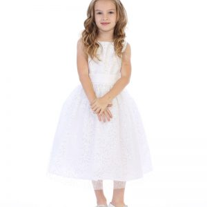 First Communion Dress with Sequins