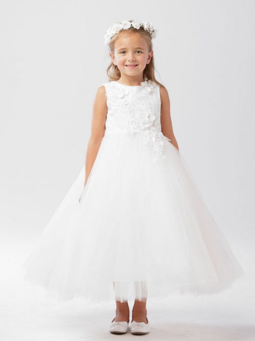 Floral Bodice First Communion Dress
