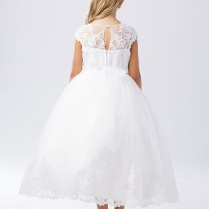 Holy Lace First Communion Dress with Cap Sleeves