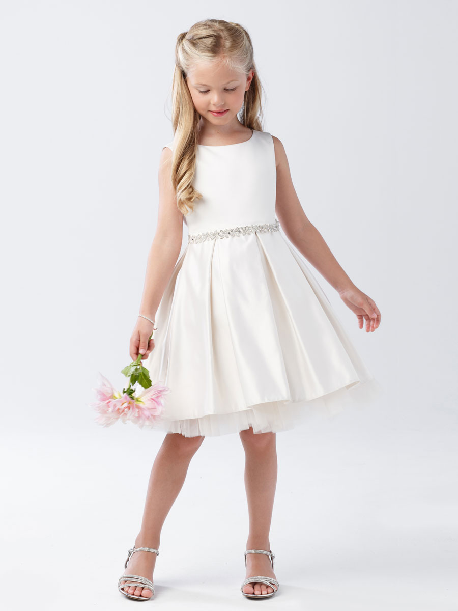 Ivory First Communion Dress Short Length