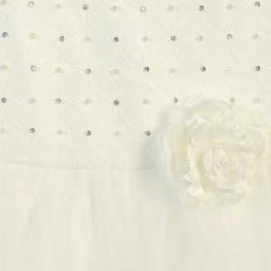 Ivory First Communion Dress with Beaded Bodice