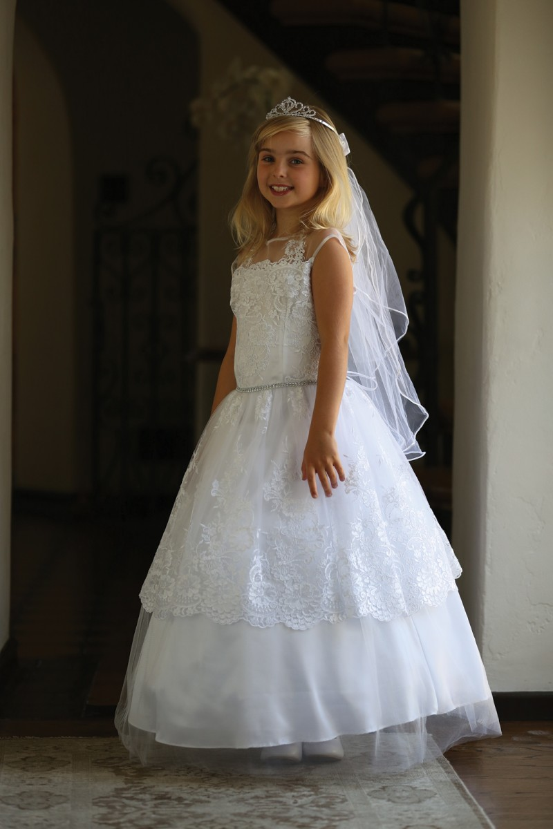Layered Lace First Communion Dress Lace First Communion