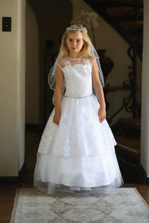 Layered Lace First Communion Dress