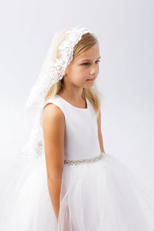 Lace First Communion Mantilla Veil