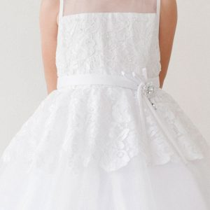Lace Overlay Communion Dress