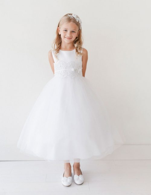 Lace and Satin First Communion Dress