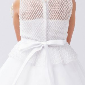 Holy Communion Dress with Mesh Bodice