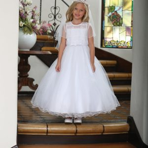 Organza First Communion Dress with Bolero Jacket
