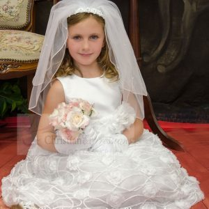 Plus Size Chiffon First Communion Dress