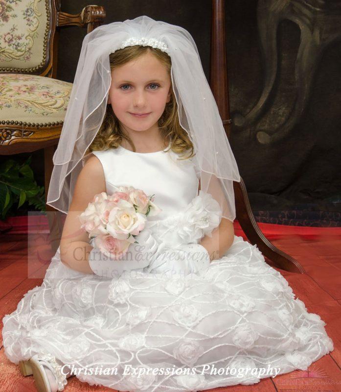 Plus Size Chiffon First Communion Dress Firstcommunions