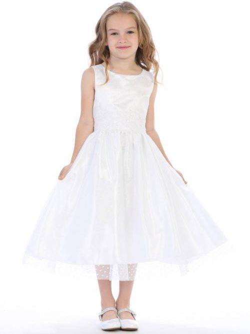 Polka Dot Tulle First Communion Dress