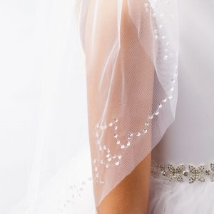 First Holy Communion Veil with Sequins
