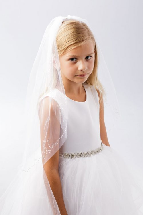 Holy Communion Veil with Sequins