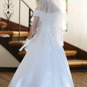 Satin A Line First Communion Dress
