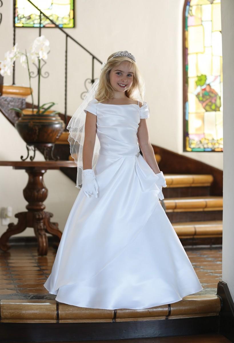 Satin First Communion Dress
