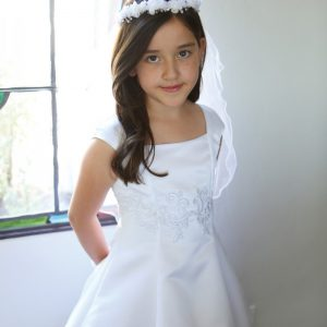 Satin First Communion Dresses by Angel Garment