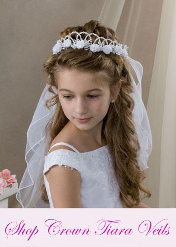 First Communion Crown - Tiara Veils