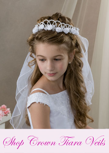 First Communion Crown - Tiara Veils