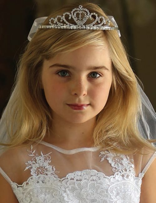 Spanish First Communion with Cross Tiara