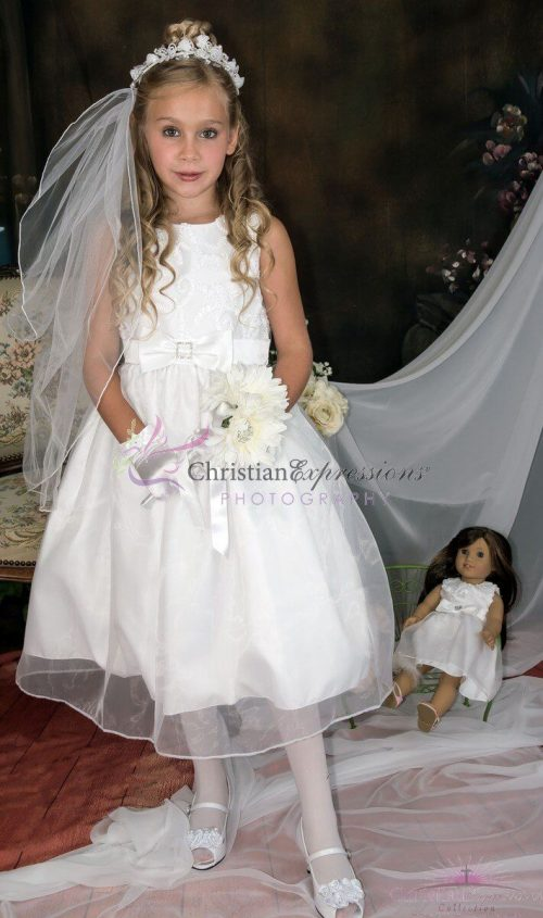 Taffeta First Communion Dress
