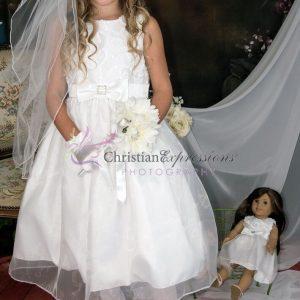 Taffeta First Communion Dress Size 12
