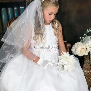 Taffeta First Communion Dress for Bigger Girls