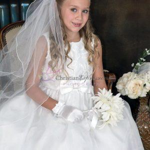 Taffeta First Communion Dress for Girls