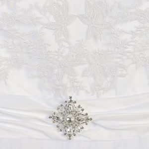 Tea Length Embroidered First Communion Dress