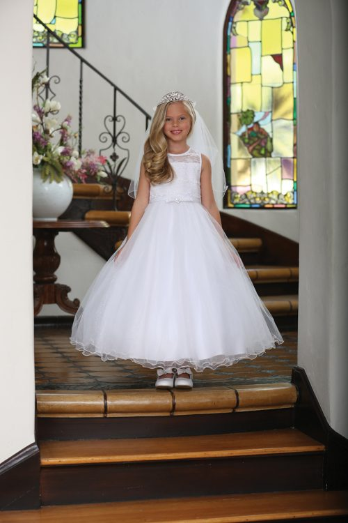 Tea Length Organza First Communion Dress
