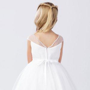 V-Neck-First-Communion-Dress