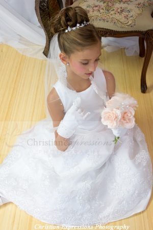 Beautiful First Communion Dresses and Veils