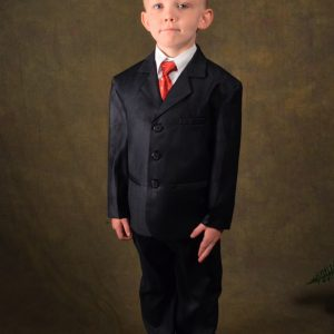 Boys Black First Communion Suit