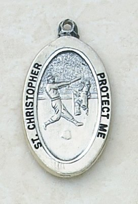 Catholic St Christopher Baseball Sports Medal