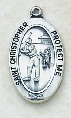Catholic St Christopher Softball Sports Medal