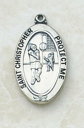 Catholic St Christopher Volleyball Sports Medal