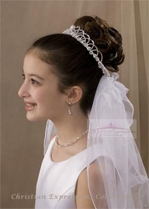 First Communion Crown Headpiece Veils