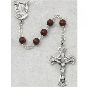 Garnet Sacred Heart First Communion Childrens Rosary Beads