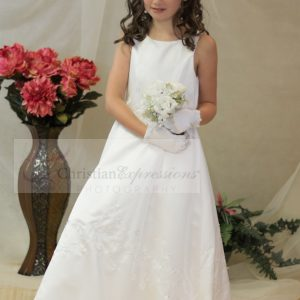Irish Shamrock A Line First Communion Dresses