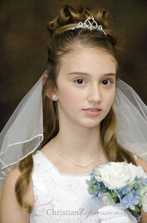 Irish Trinity Knot Claddagh Tiara First Holy Communion Veil