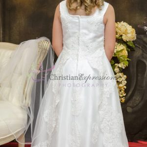 Long Length First Holy Communion Dress Lace and Beading
