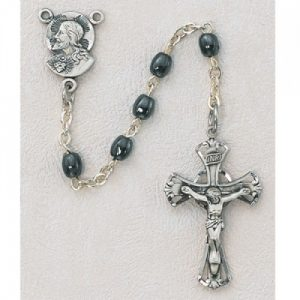 Sacred Heart Gray First Communion Childrens Rosary Beads