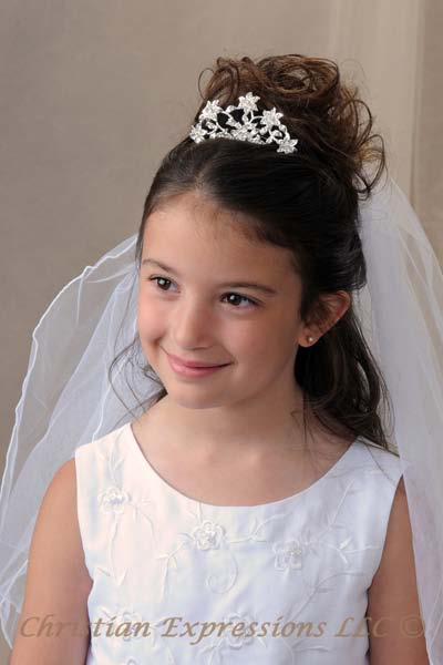 Small First Communion Tiara Headpiece