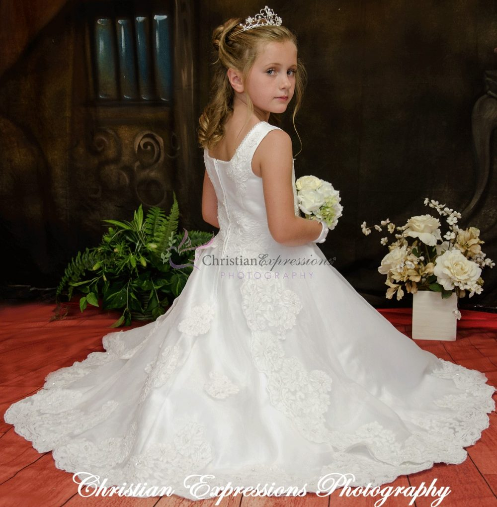 Stunning White Lace Communion Dresses
