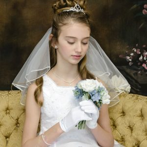 Trinity Knot Claddagh Tiara First Holy Communion Irish Veil