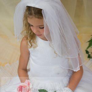 Irish First Communion Dress shamrocks appliques