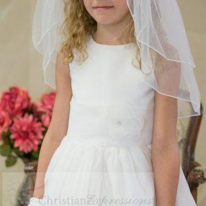 Irish Holy Communion Dress Pleated Skirt and Flower Shamrocks