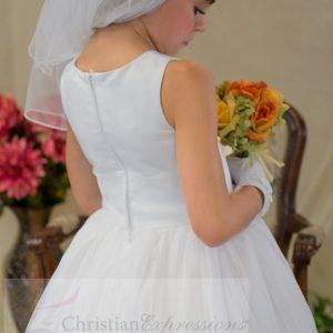 Irish Holy Communion Dress Pleated Skirt and Shamrocks