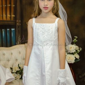 Split Skirt Satin First Communion Dresses Size 10
